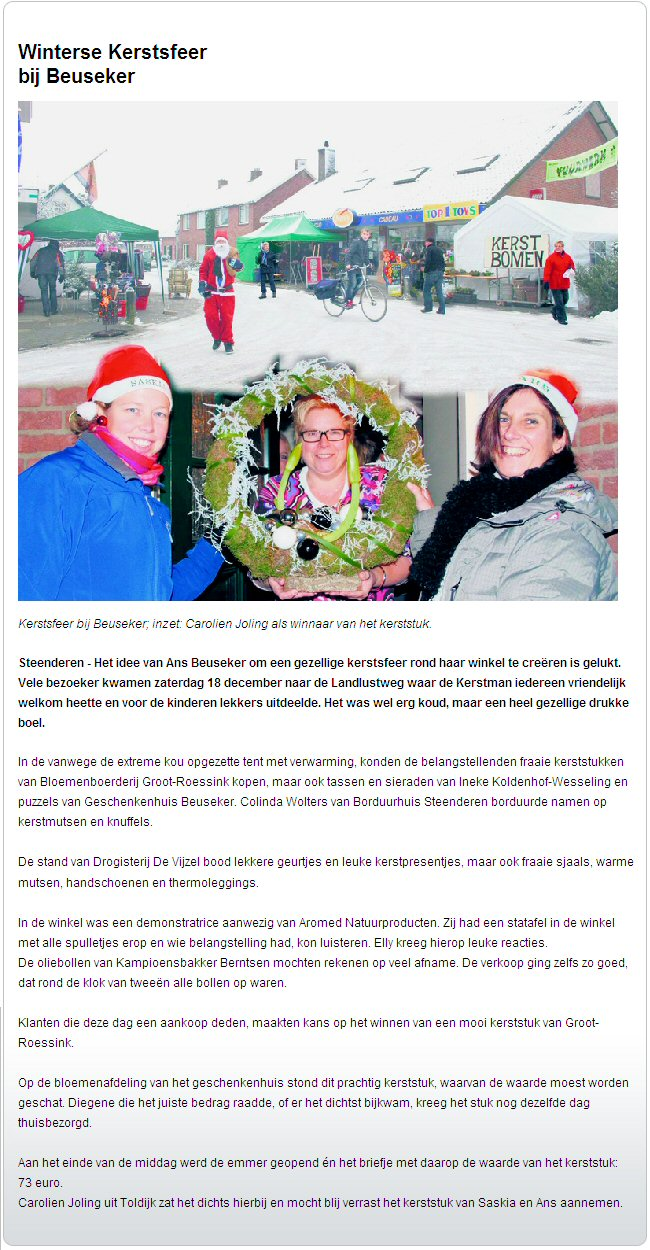 Contact 2010 12 20 Winterse Kerstsfeer